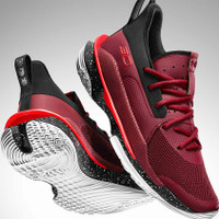 Sepatu Basket Under Armour Curry 7 Underrated Tour Red 3021258-605