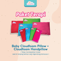 PAKET TERAPI BANTAL ANTI PEYANG BABY CLOAD FOAM (BANTAL KEPALA+LENGAN)