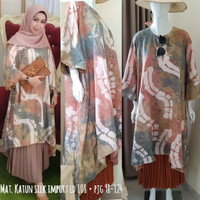 Baju tunik fashion / Tunik Jumputan palembang / Tunik modis 2020