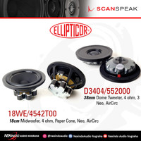 Scanspeak ELLIPTICOR 2 Way Speaker