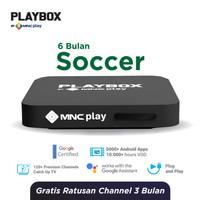 MNC Play - PlayBox Android TV Box + Bundling Soccer Free 6 Bulan