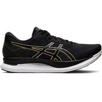 Sepatu Running Asics Glideride Mens Running Black Gold Original