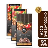 WoCA Premium Chocolate Bar 3x 90g - Cokelat Batang Rasa Kopi - 90 gram