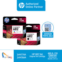 HP Tinta 682 Set Black Tri Color Original Ink Cartridge