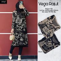 Baju Atasan Wanita Blouse Muslim New Vega Rajut Tunik