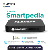 MNC Play - PlayBox Android TV Box + Bundling Smartpedia Free 6 Bulan