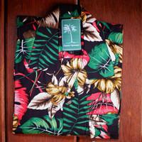 Black Tropical Hawaiian Shirt + Masker / Kemeja Pantai / Kemeja Hawai