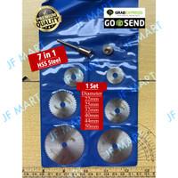 Mata Gerinda Mini Grinder Set Dan Adapter Adaptor Arbor Shaft M6.35