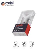 mobi mountain keyring Headphone Earphone Splitter Audio Mic - MMPA01