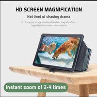 KACA LAYAR PEMBESAR PROJECTOR MINI BIOSKOP HP MOBILE PHONE 3D ( F2 )