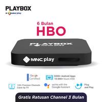 MNC Play - PlayBox Android TV Box + Bundling HBO Free 6 Bulan