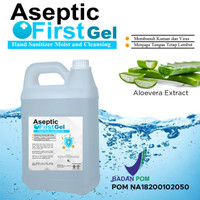 Hand Sanitizer Gel Aseptic First Refill 5L