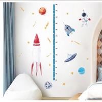 Wallsticker Ukur Tinggi Badan SK7198 Grow Up Astronot Stiker Astronaut