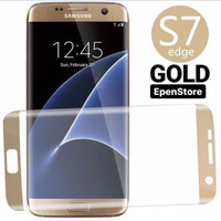 Screen protector samsung galaxy s7 edge gold tempered glass anti gores