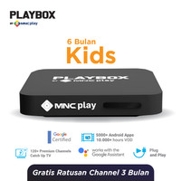 MNC Play - PlayBox Android TV Box + Bundling Kids Free 6 Bulan