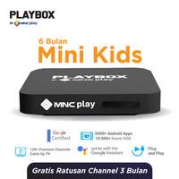 MNC Play - PlayBox Android TV Box + Bundling Mini Kids Pack Free 6