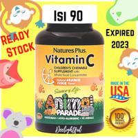 Nature's Plus Vitamin C 250 mg Animal Parade Chewable Suplemen Anak