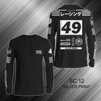 Kaos T Shirt Distro Motor Vespa Scooter Lengan Panjang SC 12