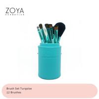 Zoya Cosmetics Brush Set 12 Pcs Turquoise