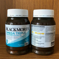 blackmores omega 3 triple concentrated odourless fish oil minyak ikan