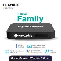 MNC Play - PlayBox Android TV Box + Bundling Family Pack Free 6 Bln