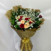 Buket bunga mawar fresh hadiah ulang tahun anniversary