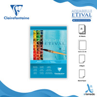 Kertas Cat Air Clairefontaine Etival A5 Cold Pressed Watercolor Pad - 200 gsm