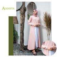 Grosir Baju Busana Muslim Murah Fresia Kombi Dress by Alkayya