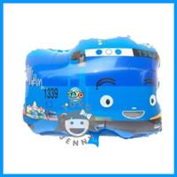 grosir balon foil karakter bus Tayo mainan anak-anak warna biru