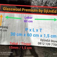 Glasswool Glaspul PREMIUM knalpot Racing by DjUnEd bukan R9/Rideit dll