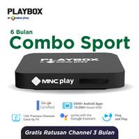 MNC Play - PlayBox Android TV Box + Bundling Combo Sport Free 6 Bln