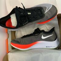 Sepatu Lari Nike Zoom Fly 3 Black White Laser Crimson Original AT8240