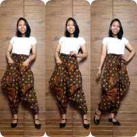 Miracle Celana Batik Shera Long Pants Aladin Jogger Wanita All Size