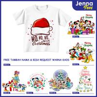 Christmas Natal Santa Claus Disney Princess - Kaos Baju Anak Dewasa
