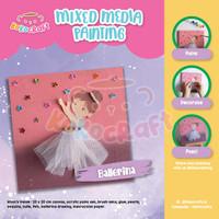 Ballerina Mixed Media Painting - Craft Kit Edukasi Anak
