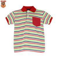 MacBear Baju Anak Laki-laki Atasan Polo Valdy Stripe Usia 6 bulan - 12 - Merah, SIZE 5