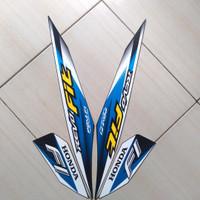 Stiker Motor Honda Revo Fit FI 2020 Biru