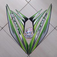 Stiker Striping Motor Honda Revo Fit Std 2013 Hijau