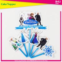 Cake Topper HAPPY BIRTHDAY Frozen Hiasan Kue Ultah Ulang Tahun Elsa