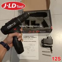 JLD Cordless Driver Drill Mesin Bor Baterai Obeng Elektrik 12V 12S