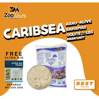 CaribSea Arag-Alive Bahamas Oolite 20 lbs / pasir laut