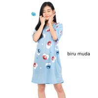 Daster Kaos Wanita Lengan Pendek Baju Tidur Cewek Motif Elmo XXL ELMO