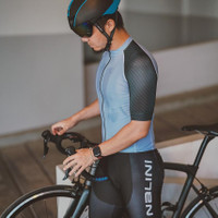 Baju Sepeda Cycling Jersey Cowok / Cewek / Unisex (Pro Air - Blue)