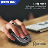Mouse Wireless PROLINK PMW6008 4 Button 800/1200/1600 DPI Selection