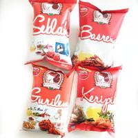 Paket Serba Maicih Khas Bandung (Keripik, Basreng, Seblak, Gurilem)