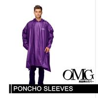 Jas Hujan OMG Poncho Ponco Kelelawar Lengan - Ungu
