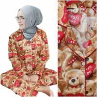 CentCentStore Piyama PP Dewasa Teddy Bear Katun Jepang Fit XL Baju Tdr