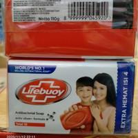 sabun lifebuoy batang 110gr x 4 merah