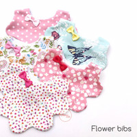 Flower Bibs for Girls - SugarBibs
