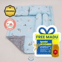 BEDCOVER BABY BAYI Sakura Blue / Badcover Baby Bed Cover Selimut